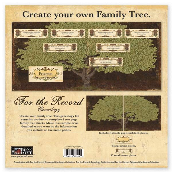For The Record Collection - Family Tree Kit