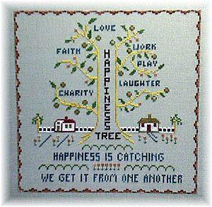 Happiness Tree - Cross Stitch Pattern
