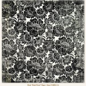 """Meadowlark """"Dusk"""" Paper - Dark Floral"""