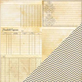 Heritage Note Cards - Horizontal / Chevron
