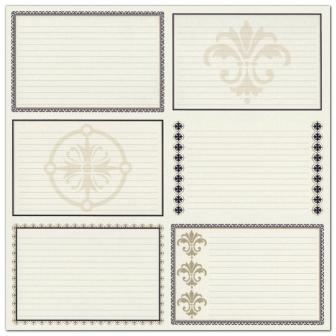 Bazzill Heritage Printed Paper - Heritage Note Cards - Horizontal