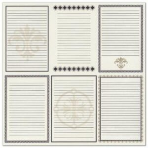Bazzill Heritage Printed Paper - Heritage Note Cards - Vertical