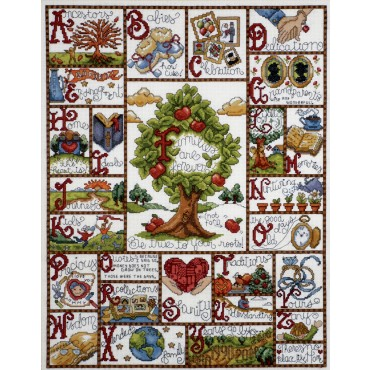 Family Sampler Cross Stitch Kit