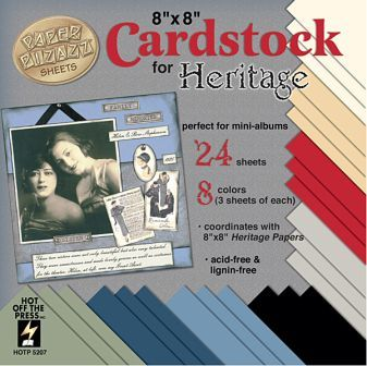"Heritage 8""x 8"" Cardstock"