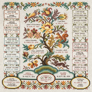 Family Registry Counted Cross Stitch Kit