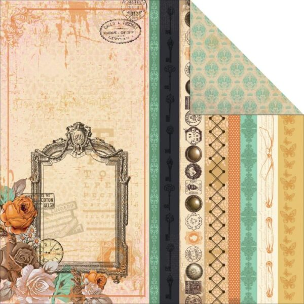 """Miss Empire - Steampunk - 12""""X12"""" Double-Sided Cardstock"""