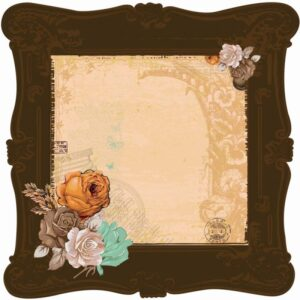 "Miss Empire - Brass - 12""X12"" Die-Cut Spot Varnish"