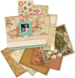 "Ancestry.com Scrapbook Album Kit 8.5""X8.5"""