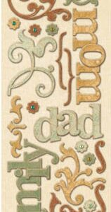AC Word & Swirls Adhesive Chipboard - ancestry.com