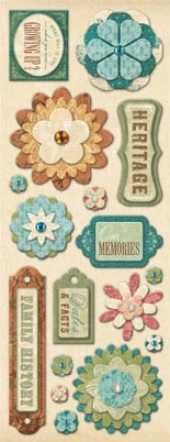 AC Flowers & Shapes Adhesive Chipboard - ancestry.com