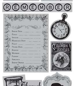 TPC Studio - Memory Lane - Rubber Cling Stamps
