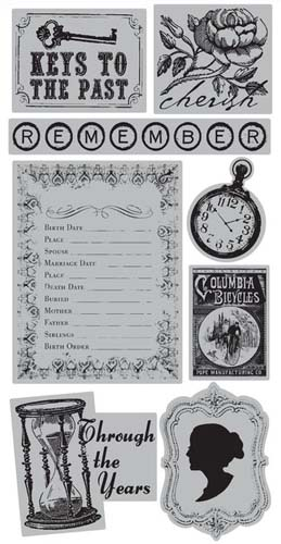 TPC Studio - Memory Lane - Rubber Cling Stamps