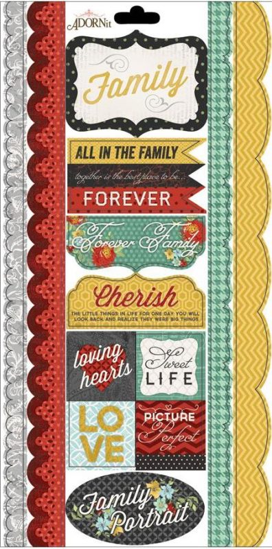 Forever Family - Kindred Border - Cardstock Stickers