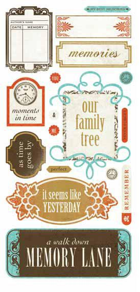 Basic Theme - Cardstock Stickers - Heritage Title