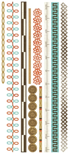 Basic Theme - Cardstock Stickers - Heritage Trims