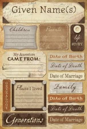 My Ancestry - Ancestry Cardstock Sticker
