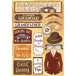 Karen Foster - Classic Grandpa - Cardstock Sticker