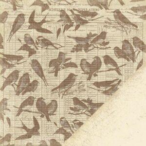 Paper Reverie - Brun - Antique Ledger Bird