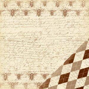 Paper Reverie - Brun - Antique Bees Handwriting