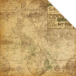Reminisce - Expedition - World Map - 12 x 12 Paper