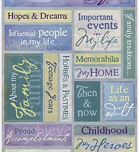 Life Story Cardstock Stickers
