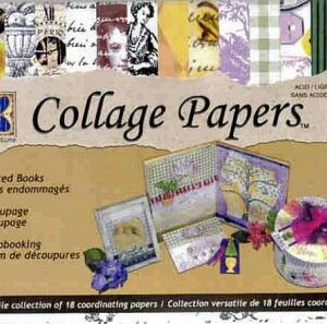 Vintage Toile Ephemera Collage Papers