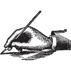Jenni Bowlin Studio Clear Acrylic Stamps - Writer