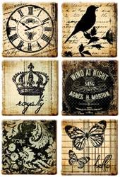 Prima Marketing - Printery Art Tiles 6/Pkg