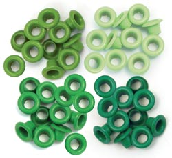 Eyelets - Standard Green - We R Memory Keepers