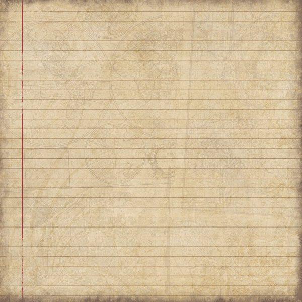 "Scrapbook Customs - Travel - Lined Paper - 12"" x 12"""