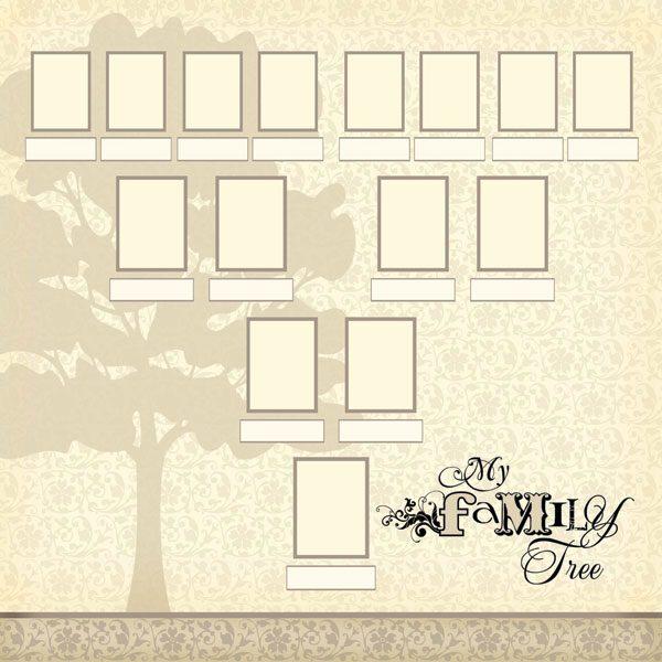 """Scrapbook Customs - Family History My Family Tree - 12"""" x 12"""""""