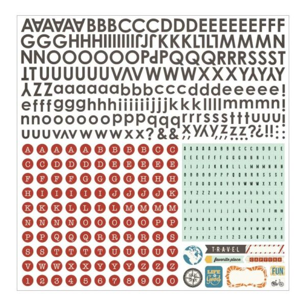 Basic Gray - Carte Postale - Alphabet Stickers