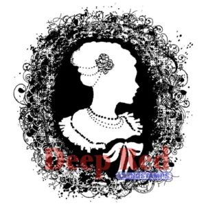 Deep Red - Cling Stamps - Cameo Nouveau