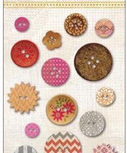 Indie Chic - Saffron Button Card