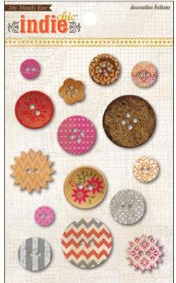Indie Chic - Saffron Button Card
