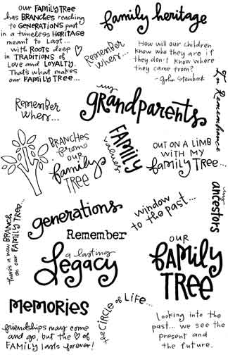 Melissa Frances - Vintage Transfers - Family Tree