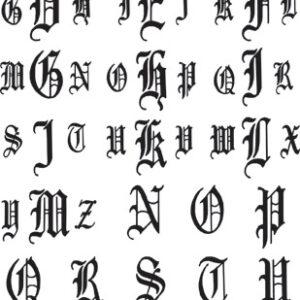 Melissa Frances - Vintage Transfers Monogram - Gothic