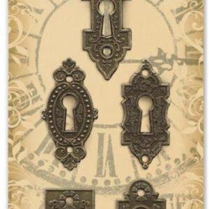 Graphic 45 - Staples - Ornate Metal Key Holes