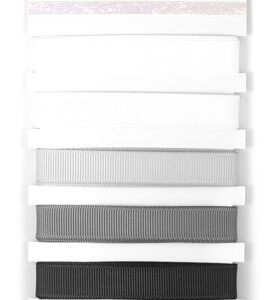 Grosgrain Monochromatic Ribbon - Monochrome