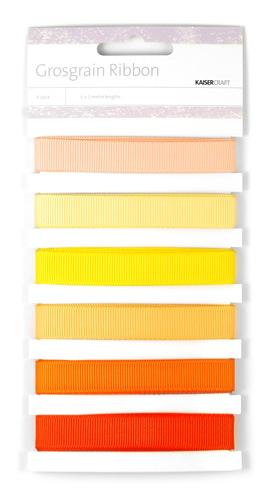 Grosgrain Monochromatic Ribbon - Sunsets