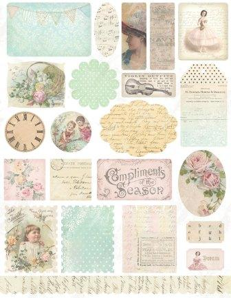 Melissa Frances - 5th Avenue Stickers - Vintage Ephemera