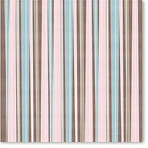 "Brown/Pink Stripes 8"" X 8"""
