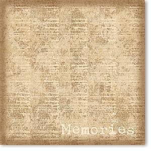 "Memories 8"" X 8"" Paper"