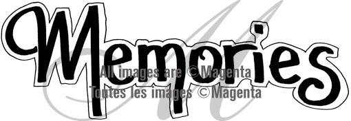 Magenta Stamps - Memories - Large