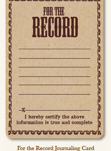 Life Stories - For The Record - Journaling Card