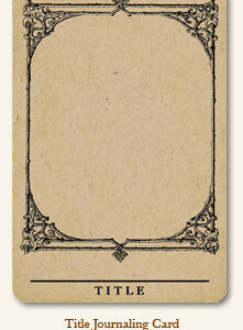 Life Stories - Journaling Card - Title
