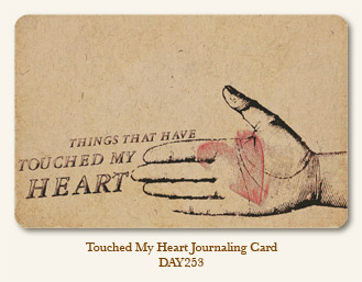 Life Stories - Touched My Heart- Journaling Card