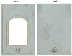 """Vintage Chipboard 2-Piece Arc Frame Cover 5""""X7"""""""