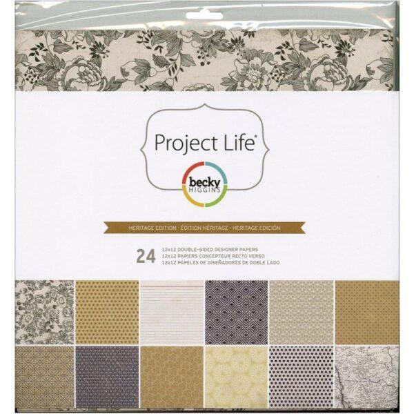 Project Life - Designer Paper Pack- Heritage