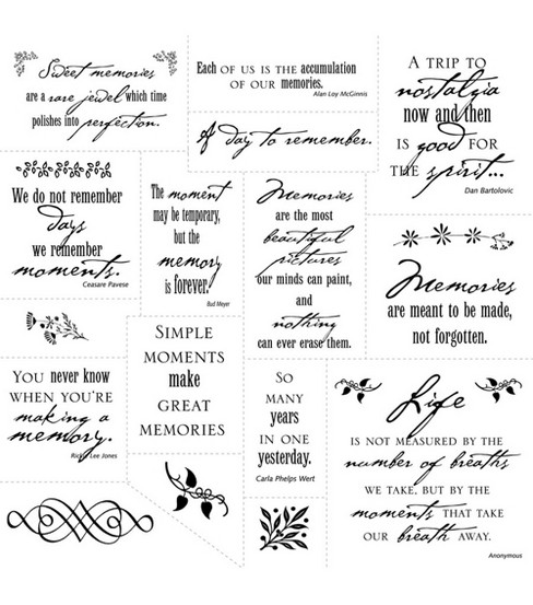 Simple Thoughts - Memories - Clear Stamps